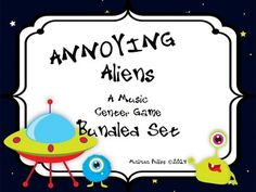 Annoying Aliens: Bundled Set of Music Center Games to Practice Rhythm in your Kodaly and Orff Classrooms