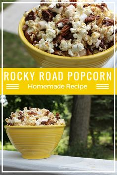 Rocky Road is not just for ice cream anymore! This homemade, easy and delicious Rocky Road Popcorn recipe will be a hit at your next family movie night or summer BBQ! Be sure to hide a bowl for yourself, this won't last, it's THAT good!