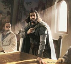 Ned Stark resigns as Hand of the King - by Joshua Cairos.