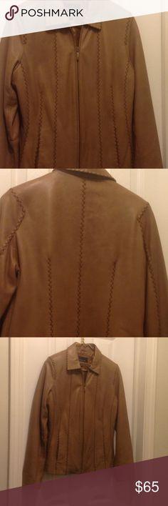 Leather jacket 100% leather jacket (lined) Jones New York Jackets & Coats