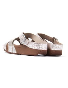 9ce726e9379 FitFlop Women s Skinny Slide Sandals - Silver Snake