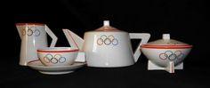 Moderna uma outra nem tanto: Serviço de chá art déco alusivo aos Jogos Olímpicos de 1936 – Vista Alegre