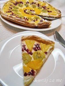 Winter fruit tart