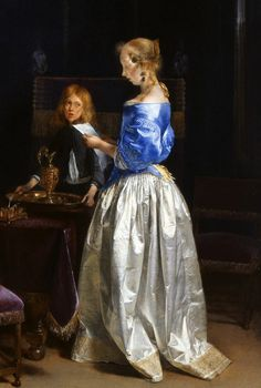 """Woman Reading A Letter"" by Gerard ter Borch II,1660-62"