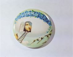 Easter baby chicks vintage picture 2.25 button magnet, refrigerator magnet, kitchen magnets 2.25 button pin by InHouseTreasures on Etsy