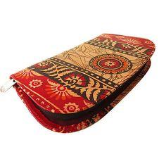 #India-#Shantiniketan-Real-Leather-Batik-Clutch-Bag-Women-039-s-Wallet-Purse-#Handmade