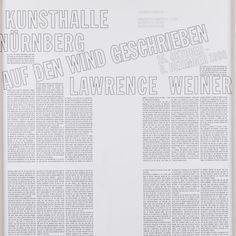 Lawrence Weiner Written On The Wind, 1998, Framed