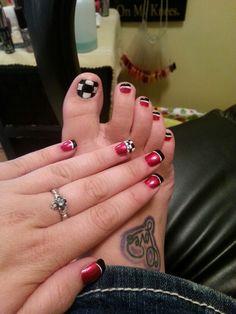 Nascar Nails Nail Art Pinterest Nascar Nails Racing Nails And