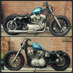 Custom Sportster, Sportster Chopper, Custom Bobber, Chopper Bike, Custom Harleys, Custom Bikes, Hd Sportster, Harley Bobber, Harley Davidson Chopper