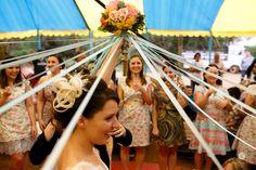 Casamento circo! Buquê de fitas.
