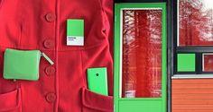 Red and Green in teh Student Village | Punavihreää Ylioppilaskylässä Marimekko- Lumia Pantone