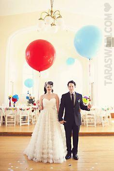 Circus wedding -- love the dress