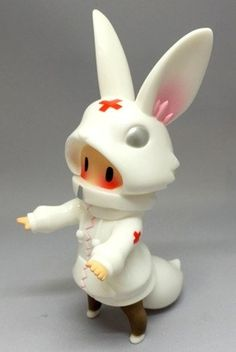 NURSE CHI-CHI figure by Cherri Polly, produced by Baketan. Front view.
