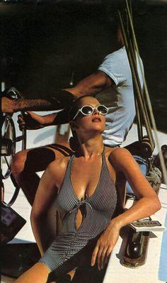 Vogue Italia 80's Photo François Lamy Model Lena Kansbod