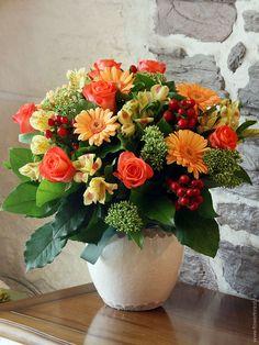 Осенние букеты и композиции из цветов; новогодний букет | Цветочный лес