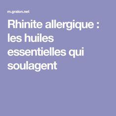 Rhinite allergique : les huiles essentielles qui soulagent