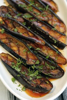 citrus and harissa roasted eggplant