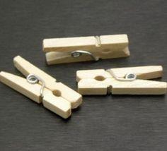 50Pcs 25 Mm Wood Wooden Snacks Pin Folder Clothspin Desk Paper Photo Clip Diy
