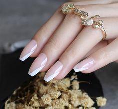 Acrylic Nail Tips, Acrylic Nail Designs, Pointy Acrylic Nails, Acrylic French Manicure, French Manicure Designs, Nude Nails, Short Stiletto Nails, Gel Nails, Manicures