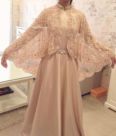 DressilyMe Bridal Dresses OnlineWedding Dresses Ball Gown attractive tulle illusion high neckline women s jacket with beaded lace appliques Tesettür Modelleri 2020 Abaya Fashion, Muslim Fashion, Fashion Dresses, Dress Outfits, Mode Abaya, Mode Hijab, Trendy Dresses, Nice Dresses, Dresses Dresses