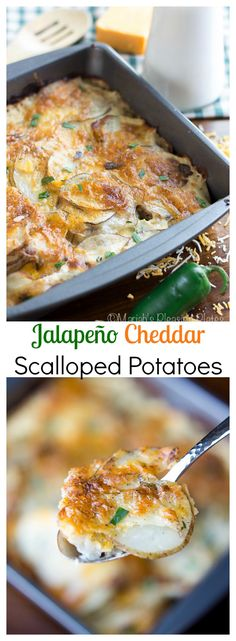 Rich and creamy scalloped potatoes, loaded with sharp cheddar cheese and spicy jalapeño slices. The perfect side dish for any meal.