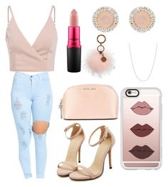 """""""Day in Pink"""" by reinaxmari ❤ liked on Polyvore featuring MICHAEL Michael Kors, Patricia Nash, MAC Cosmetics, Monica Vinader, Sterling Essentials and Casetify"""