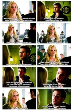 Emma asking Killian out on a date.