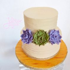 Rustic textured buttercream wedding cake - Cake by Jolirose Cake Shop