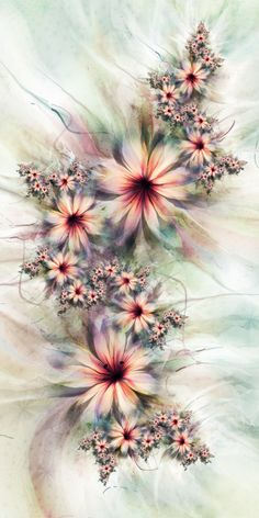 UltraFractal Flowers - love flowers. I love fractals. Would likely choose different colors but this is interesting.