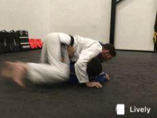 Jiu Jitsu Transição de um lado para o outro no 100kg.