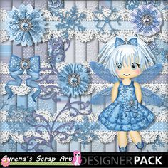 New Ice Fairy Digital #scrapbook kit at #mymemories https://www.mymemories.com/store/display_product_page?id=SESA-CP-1407-66261&r=syrenasscrapart