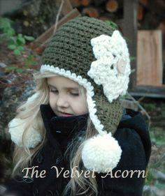 Crochet PATTERNThe Wynter Hat Toddler Child and von Thevelvetacorn