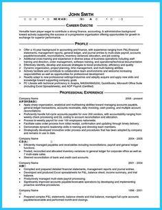 nice sample for writing an accounting resume