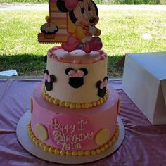 Baby Minnie Mouse 1st Birthday Cake Topper The Best Cake Of 2018