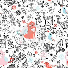 Graphic Pattern Of Animals Stock Images - Image: 18562584