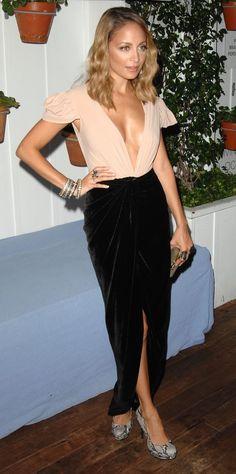 Nicole Richie, gorgeous velvet skirt