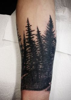 Bilderesultat for forest blackwork tattoo