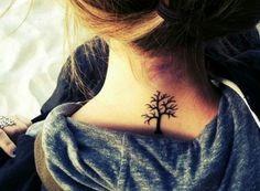 small tree neck tattoo #girly #ink