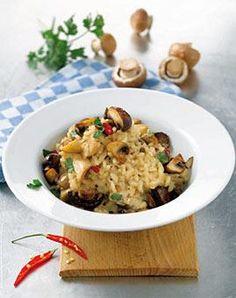 Rezept: Risotto mit Chili und Champignons