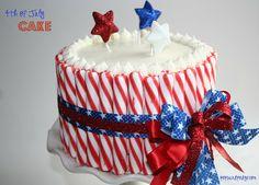 4th of July Cake #redwhiteblue #4thofjuly #recipe