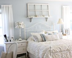 Shabby chic bedroom decor brings a romantic and nostalgic touch of the past days and eras. You do not need to spend a fortune to create a shabby chic atmosphere. You have to know the tricks and we shall show… Continue Reading → Shabby Chic Bedroom Furniture, Shabby Chic Interiors, Shabby Chic Bedrooms, Shabby Chic Homes, White Furniture, Shabby Cottage, Furniture Ideas, Cottage Style, Cottage Chic