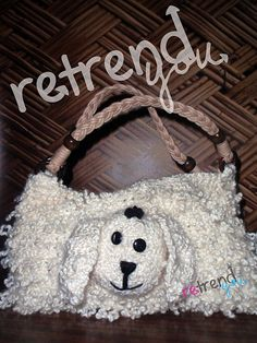 Little Lamb - Loop Stitch Purse by Retrend You $3.99