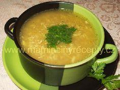 Polévka z tvrdého sýra Czech Recipes, Ethnic Recipes, Food And Drink, Soup, Czech Food, Soups