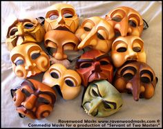 Commedia Dell'Arte Masks by ~Alyssa-Ravenwood Artisan Crafts / Costumery / Masks ©2010-2012 ~Alyssa-Ravenwood