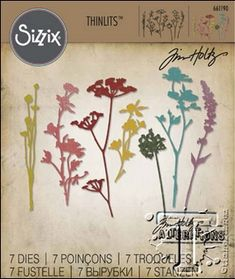 RESERVE Tim Holtz Sizzix WILDFLOWERS Thinlits Die 661190 at Simon Says STAMP!