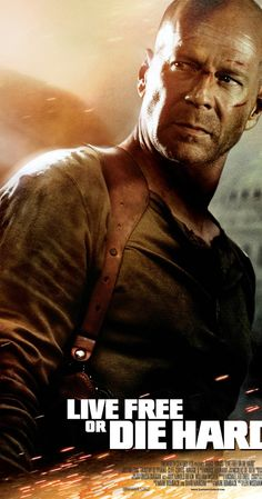 Live Free or Die Hard (2007)  Directed by Len Wiseman.  With Bruce Willis, Justin Long, Timothy Olyphant, Maggie Q. John McClane and a young hacker join forces to take down master cyber-terrorist Thomas Gabriel in Washington D.C.