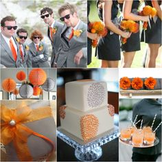 Orange & Grey Wedding