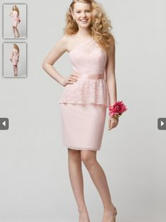 ed67441c583a 2015 A-line One-shoulder Lace Bridesmaid Dress WTOO 692 Lace Overlay Dress,
