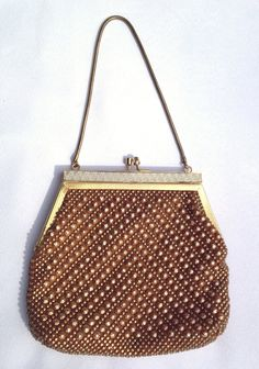 Swanky Vintage 1960s Gold Studded Evening Bag by casalupe on Etsy, $30.00