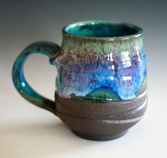 mug: 1/2 glaze & raw clay
